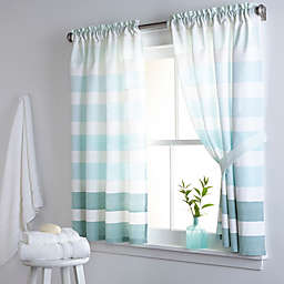 Dkny Highline Stripe 38 Inch X 45 Cotton Bath Window Curtain Panel Pair