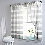 DKNY Highline Stripe 38-Inch x 45-Inch Cotton Window Curtain Panel Pair in Grey