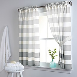 DKNY Highline Stripe 38-Inch x 45-Inch Cotton Window Curtain Panel Pair