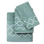 Colordrift Mandy Fingertip Towel in Aqua