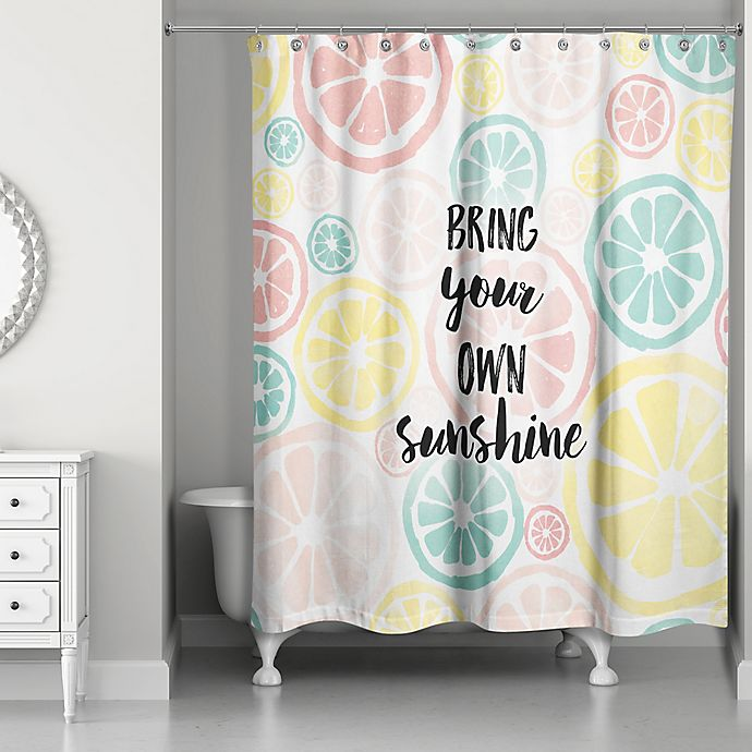 Alternate image 1 for Designs Direct 71-Inch x 74-Inch Own Sunshine Shower Curtain in Pink