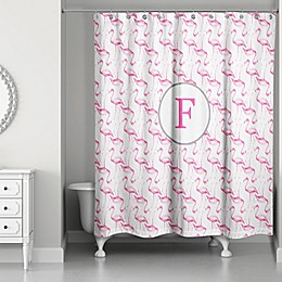 Designs Direct 71-Inch x 74-Inch Flamingo Squad Shower Curtain in Pink