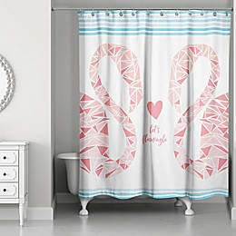 Designs Direct 71-Inch x 74-Inch Let's Flamingle Shower Curtain in Pink