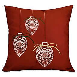 E by Design Decorative Holiday Square Throw Pillow
