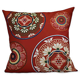 E by Design Medallions Square Throw Pillow