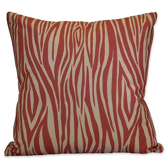 Alternate image 1 for E by Design Wood Stripe Geometric Throw Pillow in Coral