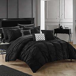 Chic Home Voni 10-Piece King Comforter Set in Black