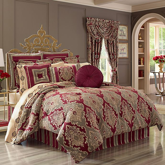 J Queen New York Crimson Comforter Set Bed Bath Beyond