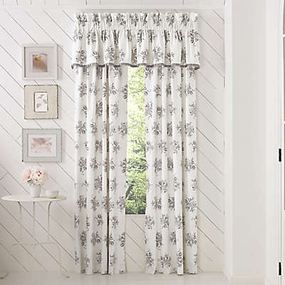 Piper & Wright™ Sabrina 84-Inch Rod Pocket Window Curtain Panel Pair in Grey