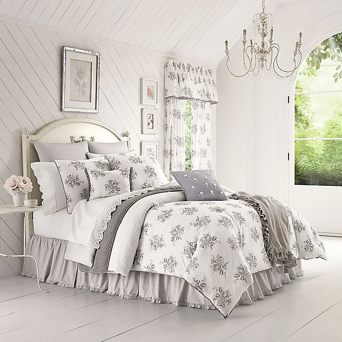 Alternate image 1 for Piper & Wright™ Sabrina Comforter Set in Grey
