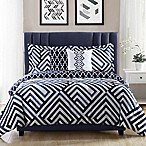 Studio 17 Swing 5-Piece Reversible King Comforter Set in Navy