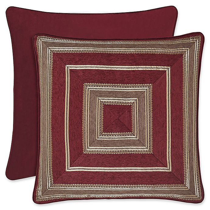 Alternate image 1 for J. Queen New York™ Crimson European Pillow Sham in Red