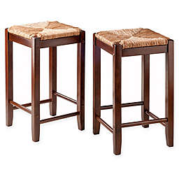 Winsome Kaden Rush Counter and Bar Stools (Set of 2)