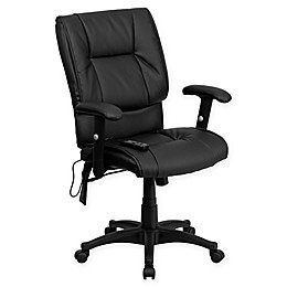 Flash Furniture Comfort Massaging Executive Office Chair in Black