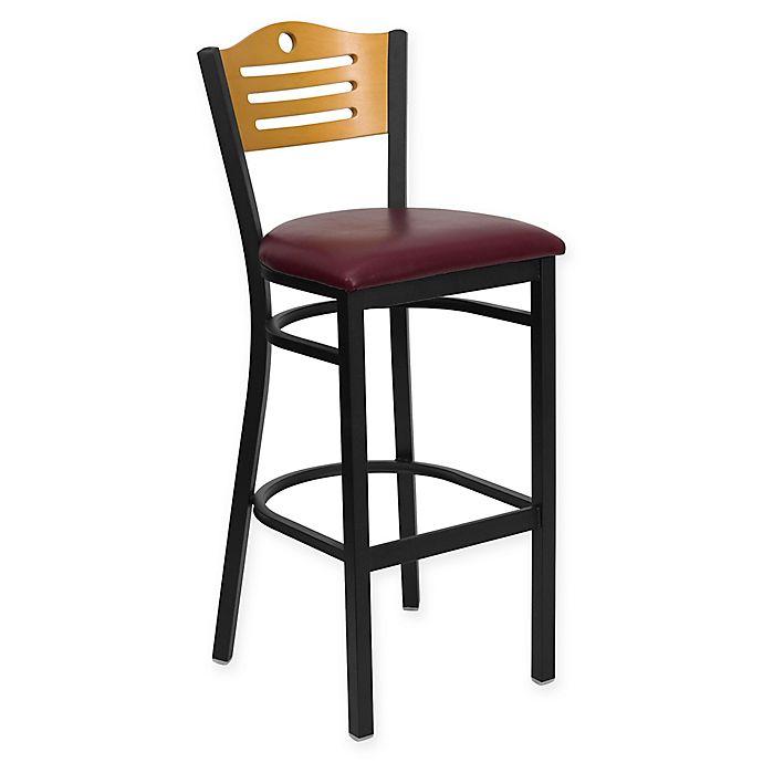 Buy Flash Furniture Slat Back 42 75 Inch Metal Stool With