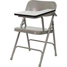 Flash Furniture 30-Inch Steel Folding Chair with Left Tablet Arm in Grey