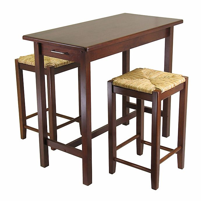 Alternate image 1 for Winsome Sally 3-Piece Kitchen Island Table Set