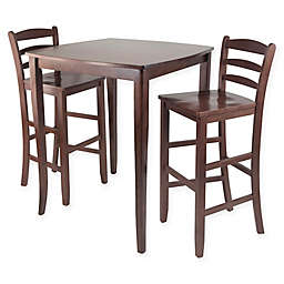 Winsome Inglewood 3-Piece High Dining Set in Antique Walnut