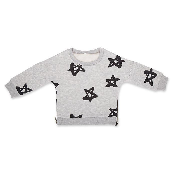Alternate image 1 for Troy James Boys Stars Sweatshirt in Grey