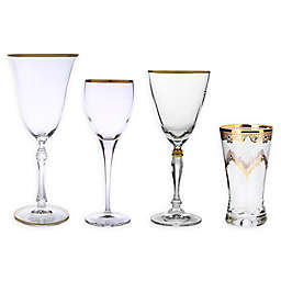Classic Touch Glim Wine & Bar Collection in Gold