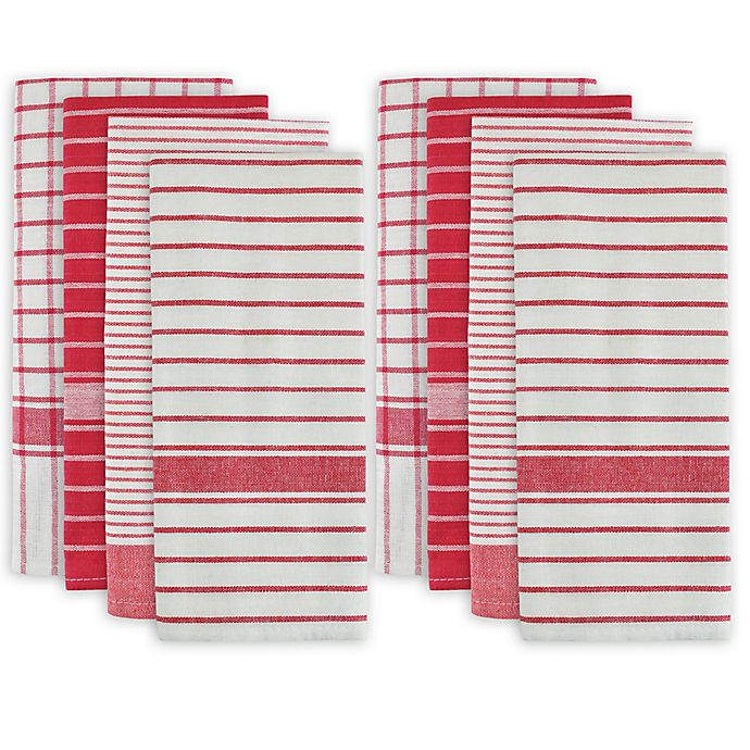 Alternate image 1 for Design Imports 8-Pack Oversized Kitchen Towels