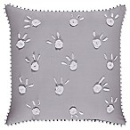 Piper & Wright™ Sabrina Embroidered Square Throw Pillow in Grey