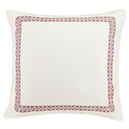 Jessica Simpson Puebla European Pillow Sham in Ivory/Natural