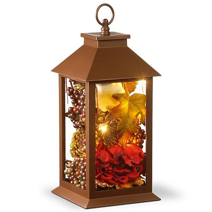 Alternate image 1 for National Tree Company® LED Harvest Arrangement Lantern in Brown