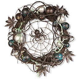 National Tree 18-Inch Halloween Wreath in Black