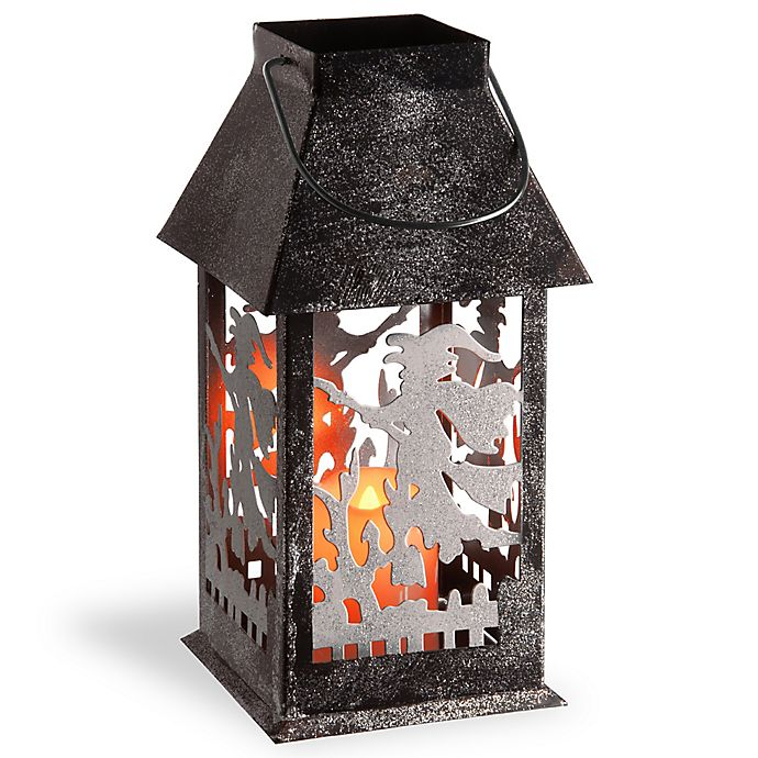 Alternate image 1 for National Tree Company® LED Witch Lantern in Black/Silver