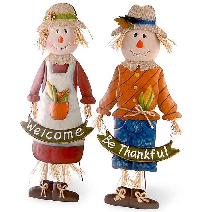 Alternate image 1 for National Tree Company 28-Inch Scarecrow Children (Set of 2)