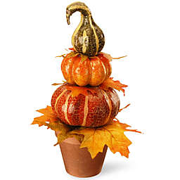 National Tree Company® 15-Inch Potted Pumpkin Décor in Orange