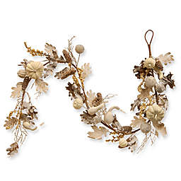 National Tree Company® 72-Inch Pumpkin and Pinecone Garland in White