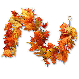 National Tree Company® 72-Inch Maple Leaf Garland in Orange