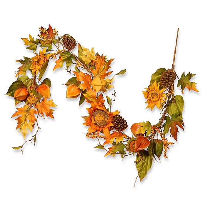 Alternate image 1 for National Tree Company® 72-Inch Sunflower Garland in Yellow