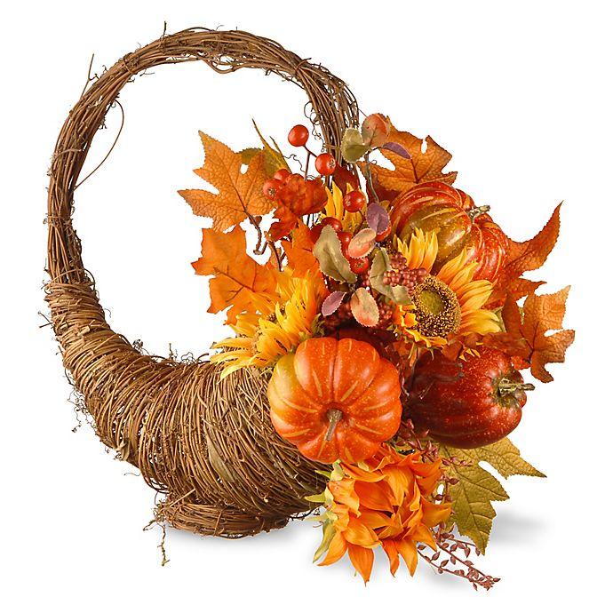 Alternate image 1 for National Tree Company® 22-Inch Autumn Cornucopia Basket in Orange