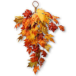 National Tree Company® 30-Inch Maple Leaf Teardrop Wall Art in Orange