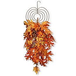 National Tree Company® 36-Inch Maple Leaf Teardrop Wall Art in Orange