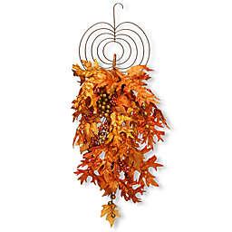 National Tree Company® 36-Inch Maple Leaf Teardrop Wall Art in Orange