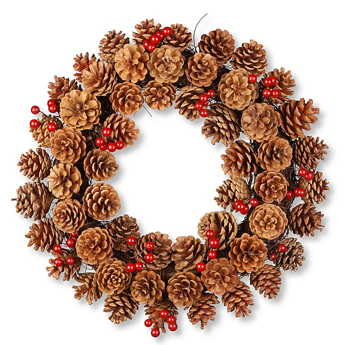 Alternate image 1 for National Tree 20-Inch Pinecone Wreath in Brown