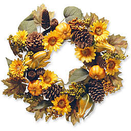 National Tree 22-Inch Autumn Sunflower Wreath