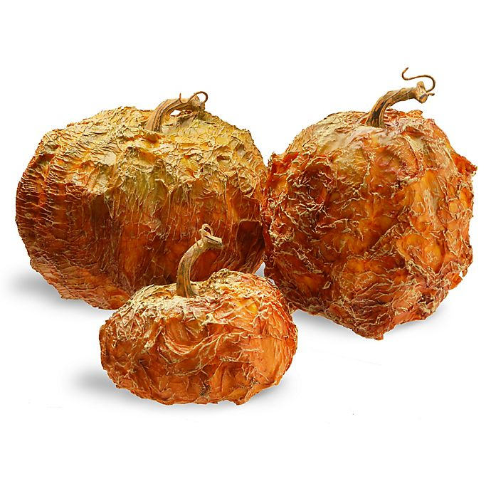 Alternate image 1 for National Tree Company® Icky Pumpkins in Orange (Set of 3)