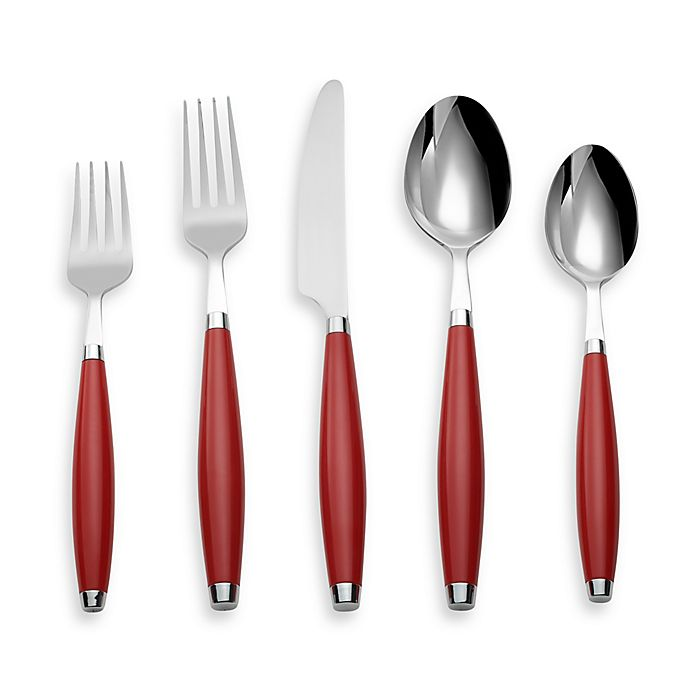 Alternate image 1 for Fiesta® by Cambridge® 5-Piece Flatware Place Setting in Scarlet