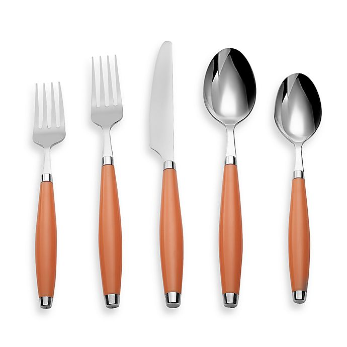 Alternate image 1 for Fiesta® by Cambridge® 5-Piece Flatware Place Setting in Tangerine