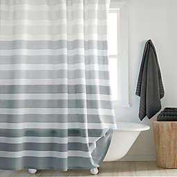 DKNY Highline 72-Inch x 84-Inch Stripe Shower Curtain in Grey