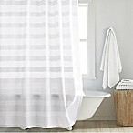 DKNY Highline 72-Inch x 72-Inch Stripe Shower Curtain in White