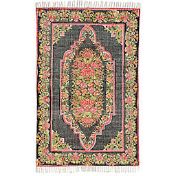 Feizy Cadot Rug in Pink/Black