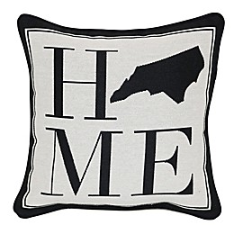 Brentwood Originals 12-Inch x 12-Inch North Carolina Rustic Home State Throw Pillow