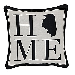 Brentwood Originals 12-Inch x 12-Inch Illinois Rustic Home State Throw Pillow