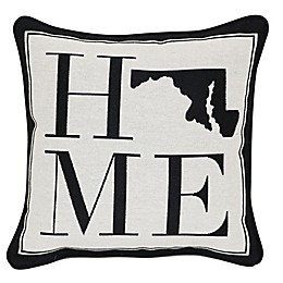 Brentwood Originals 12-Inch x 12-Inch Maryland Rustic Home State Throw Pillow